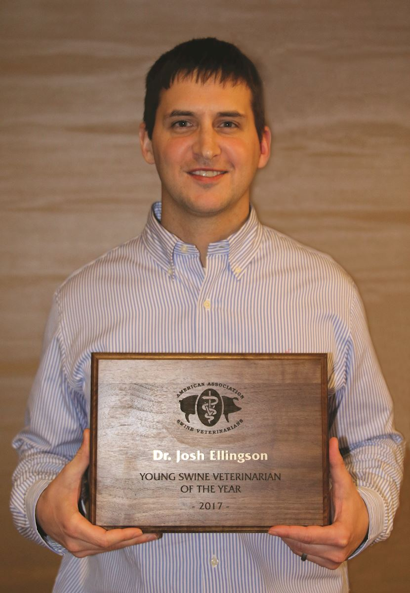 Ellingson named 2017 Young Swine Veterinarian of the Year