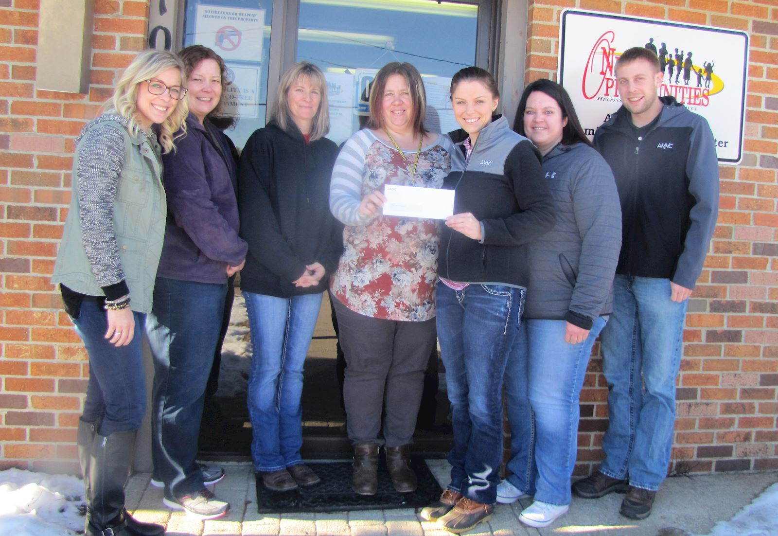 AMVC employees donate to local charities