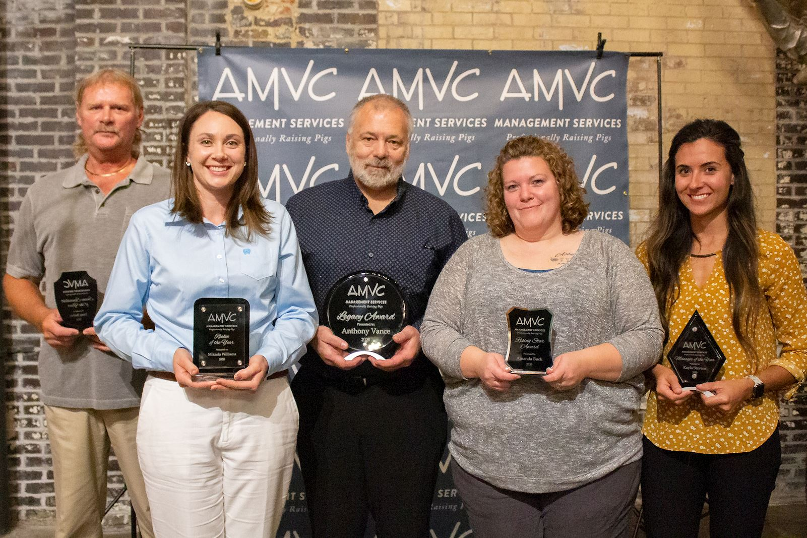 AMVC Management employee award winners