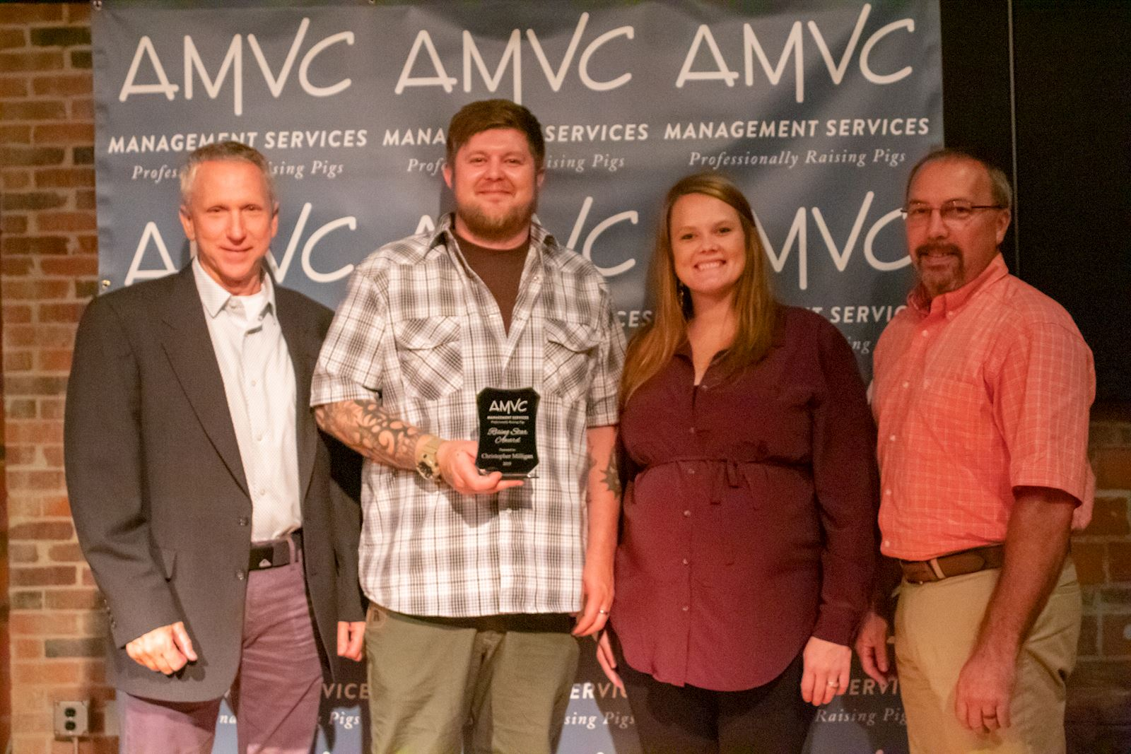Milligan receives AMVC Rising Star Award