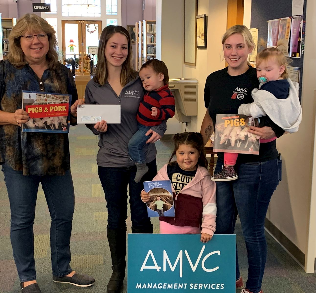 AMVC celebrates National Pork Month and National Book Month with local libraries