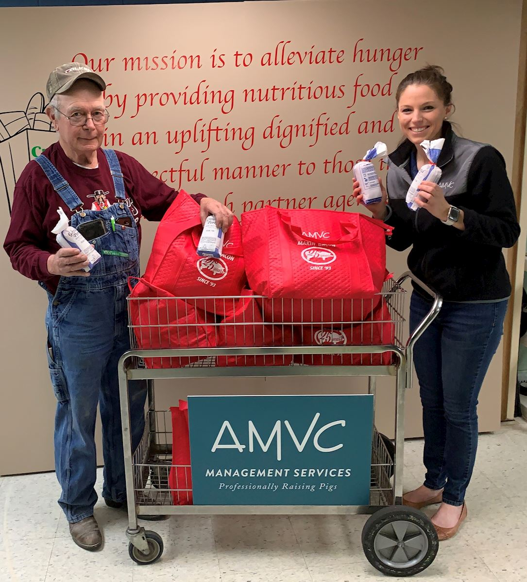Creston Area Food Pantry receives pork from AMVC