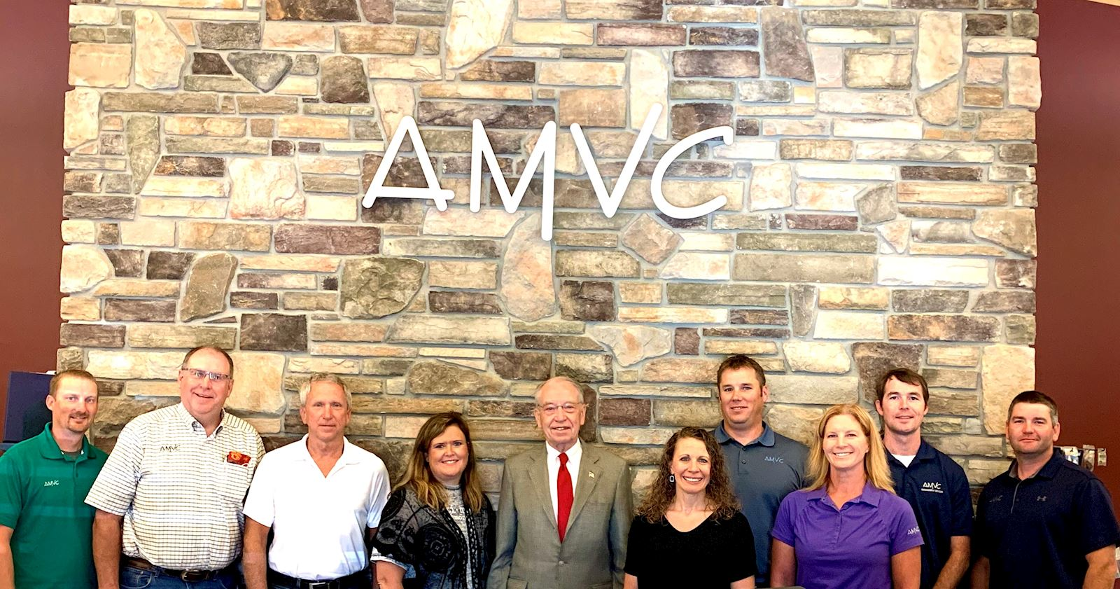 Sen. Grassley visits AMVC in Aububon, Iowa