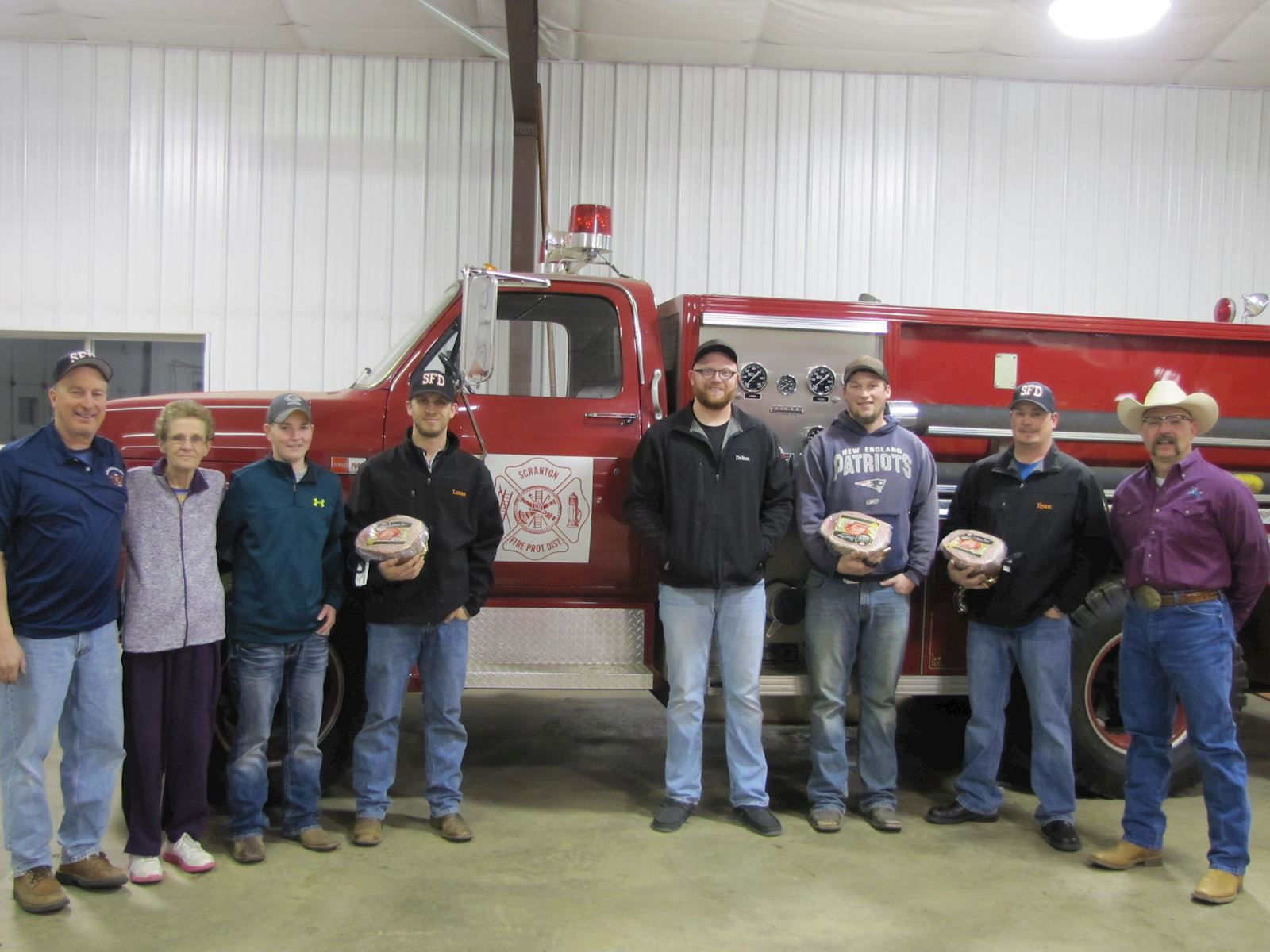 Scranton Volunteer Fire Department Receives Ham Donation