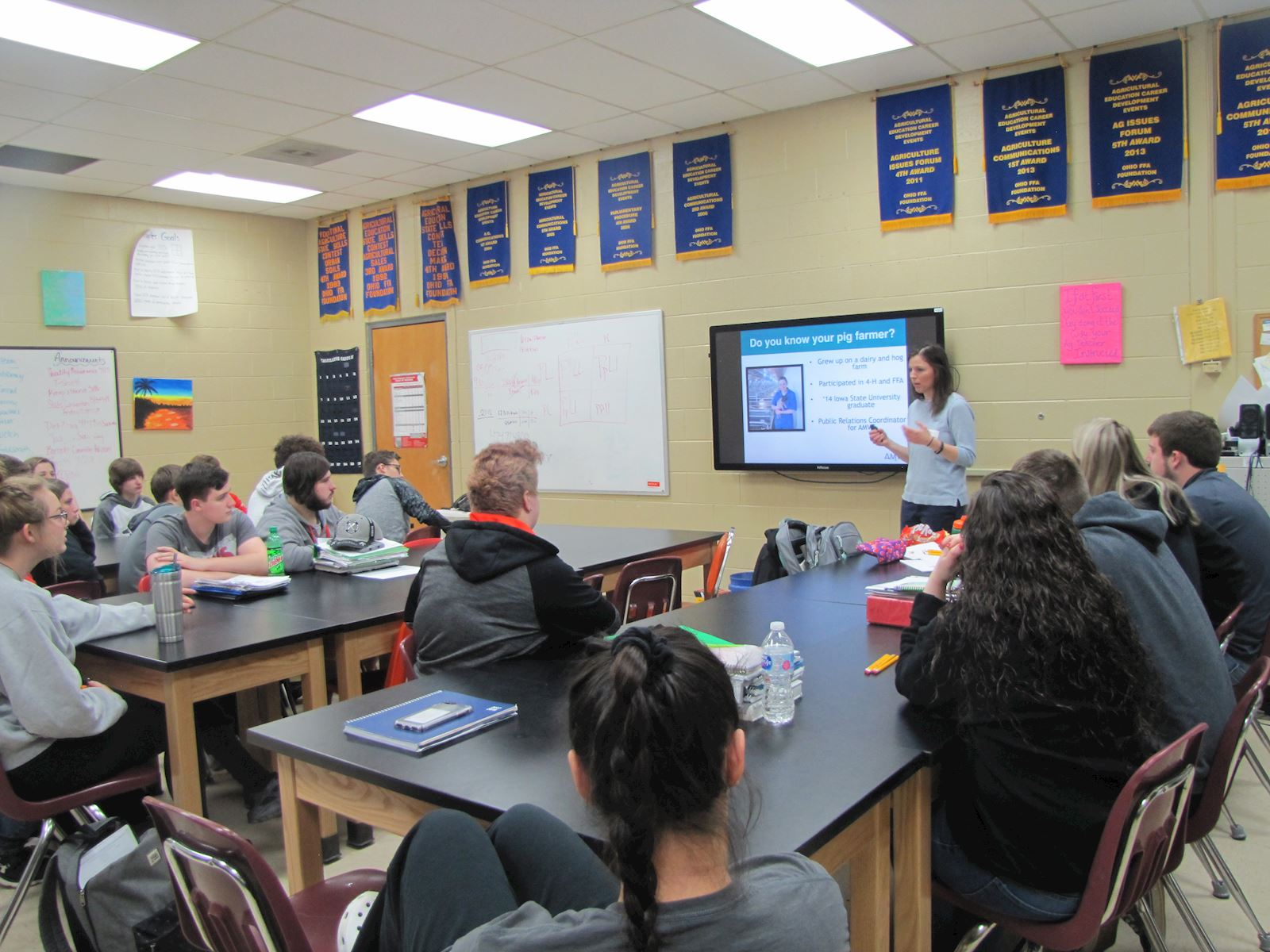 Westfall students learn about pig farming