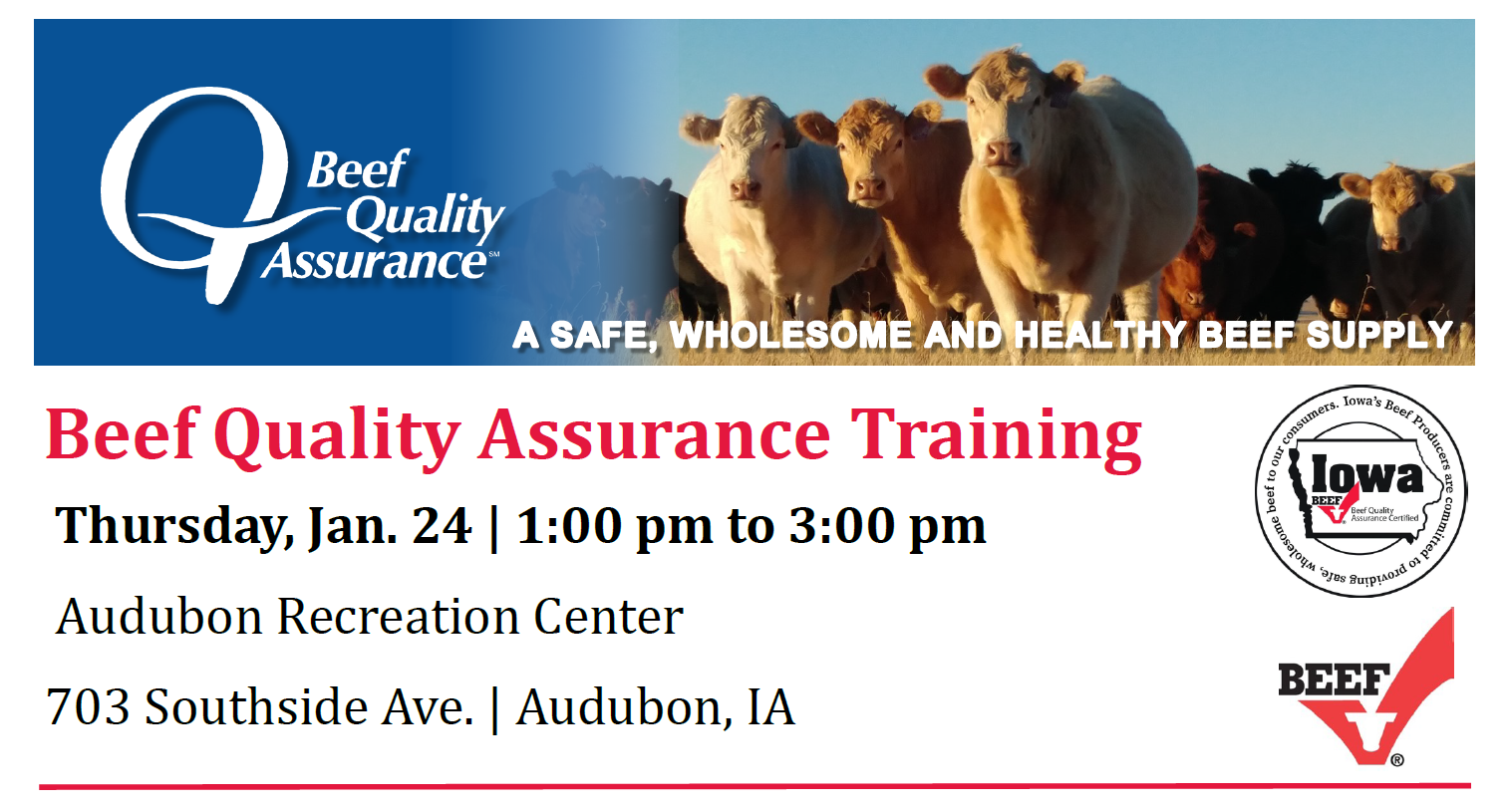 Learning opportunity for cattle producers set for January 24