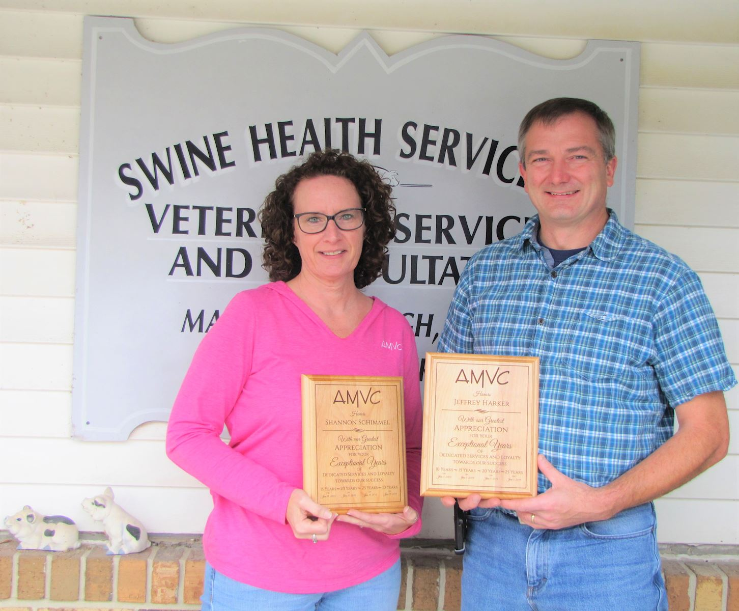 AMVC Swine Health Services recognizes employees' accomplishments