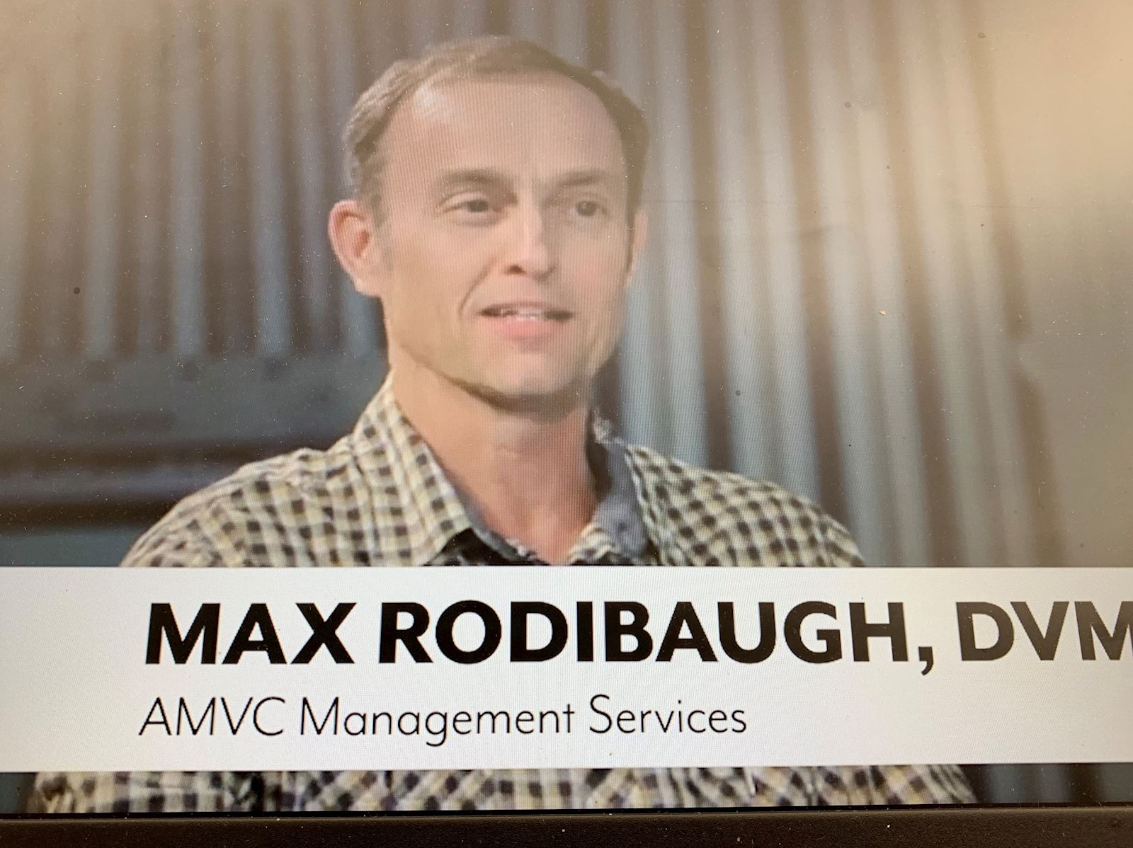 Dr Max Rodibaugh Swine Health Services AMVC