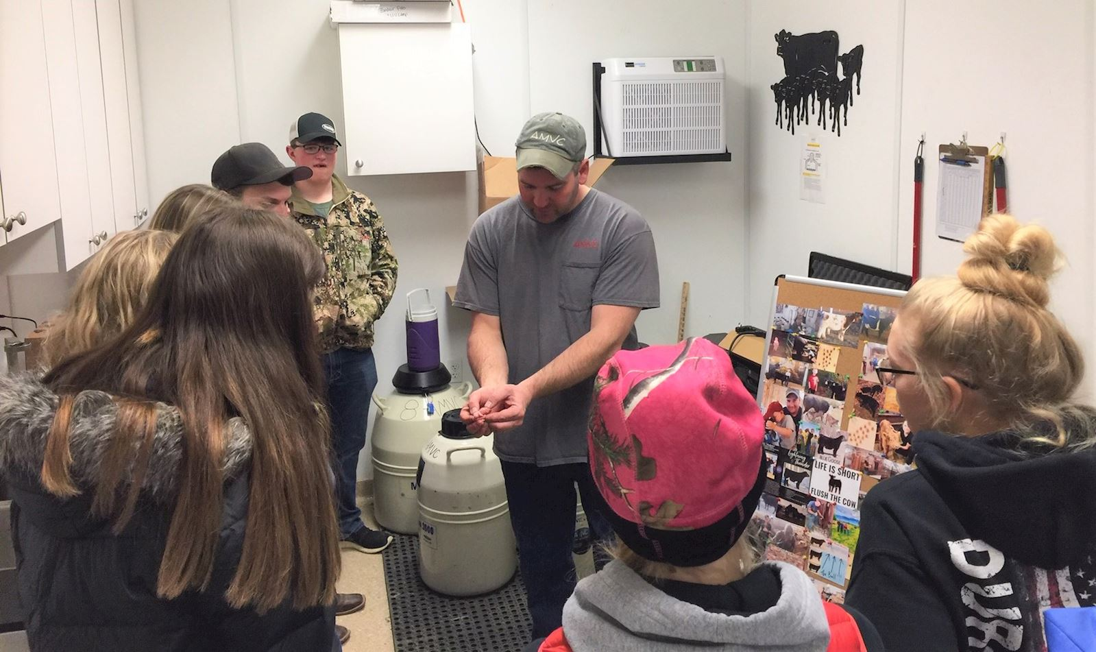 Area students learn at vet clinic